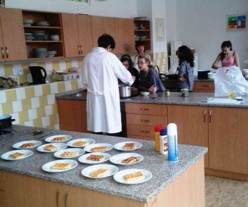 Hodina vaření v 7. ročníku