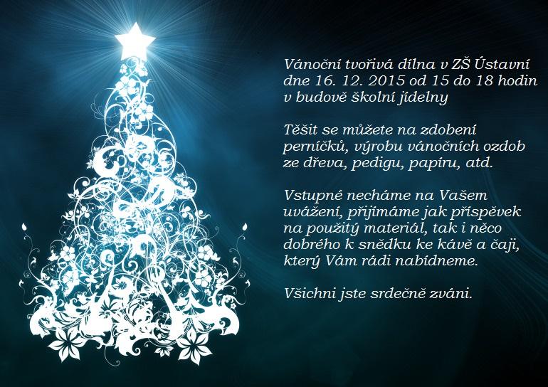Vánoční pracovní dílna pro rodiče a děti – 16. prosince