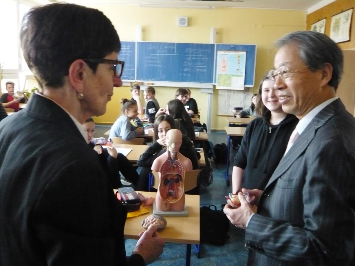 Japonští kolegové u nás ve škole